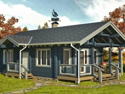 одноэтажные деревянные дома